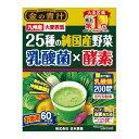 日本薬健 金の青汁 25種の純国産野菜 乳酸菌×酵素 60包入 | 大麦若葉 九州産大麦若葉 乳酸菌 青パパイヤ由来酵素配合…
