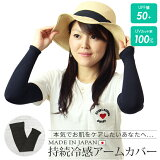 【UVカット率100%】アームカバーUPF50+日本製