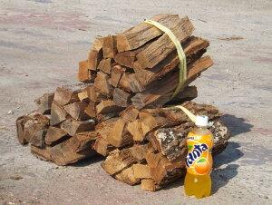 焚き火・キャンプ・バーベキュー薪 ナラ・クヌギ(広葉樹)8〜9kg 1束¥3500 ケース入り包装送料無料:本州・四国・九州地区限定火持ちが良いので人気です♪♪・・・