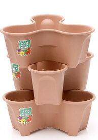 立体花壇 ハーベリーポット プランター 土容量 7.1L型 5個セット ブラウン色 おしゃれ 超人気品 本州・四国・九州地区限定 送料無料