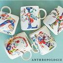 【メール便不可】ANTHROPOLOGIE アンソロポロジー イニシャルマグ マグカップ Petal Palette Monogram Mug アルファベット