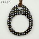 キッソオ ルーペ EGA-370 ブラックブロック メガネ素材のペンダントルーペ 鯖江 KISSO