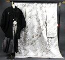 【レンタル白無垢】白無垢・紋服レンタルフルセット251白パールに鶴の舞【fy16REN07】【白無垢レンタル】 05P03Dec16