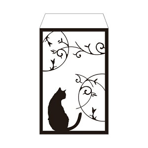 モノクロ猫/ポチ袋(中)5枚セット お年玉袋・ぽち袋・おしゃれでかわいい多目的祝儀袋