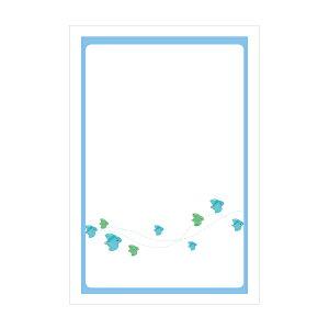 青千鳥【ポストカード】3枚セット/おしゃれでかわいい京都かみんぐ限定ポストカードアート