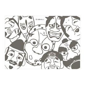 お面(能面・小面・狐面)【ロゴ・名入れ可】業務用ペーパーランチョンマット使い捨て敷紙 100枚