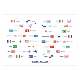 国旗(旅行・トラベル)【ロゴ・名入れ可】業務用ペーパーランチョンマット使い捨て敷紙 100枚