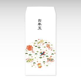 【2021年お年玉袋】宝尽くし2(大)/3枚【和紙製ポチ袋】