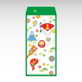 【2021年お年玉袋】お正月(大)/3枚【和紙製ポチ袋】