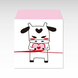 【2021年お年玉袋】結び牛(正方形)/3枚【普通紙製ポチ袋】