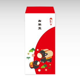 【2021年お年玉袋】牛の親子(大)/3枚【和紙製ポチ袋】