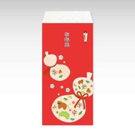 【2021年お年玉袋】瓢箪に丑(大)/3枚【和紙製ポチ袋】