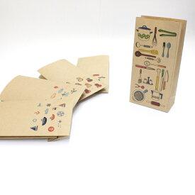 【キッチン用品(料理・食器)】紙袋 小/15枚入り【クラフト紙製】 おしゃれでかわいいペーパーバッグ・角底
