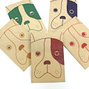 クラフト犬/ポチ袋(中)5種類セット【クラフト紙製】お年玉袋・ぽち袋・おしゃれでかわいい多目的祝儀袋