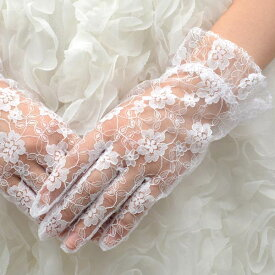 【ネコポス便可】【ウェディンググローブ】ラッセル 一段フリル 白 ショート 婦人手袋【ウエディング 結婚式 手袋 ブライダル】