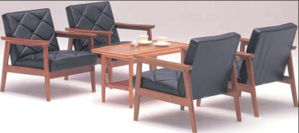 KARIMOKU〜カリモク〜合皮革張椅子5点セット【送料無料】【smtb-k】 【家具】【京都−市やま家具】 【RCP】