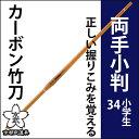 カーボン竹刀34両手小判型【剣道具・竹刀・カーボン】