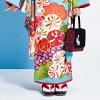 2017 Atsuto Uchida X JAPAN STYLE brand Seven-Five-Three Festival rental cross grips kimono 20 points full set child girl kimono set classic classic blue light blue