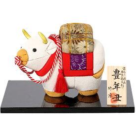 迎春・木目込人形 豊年丑・京都くろちく【楽ギフ_包装】【楽ギフ_のし】