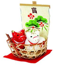 張子干支・招福丸丑 中・京都くろちく・本店・公式ショップ・迎春張り子