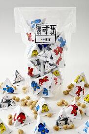 北海道産新大豆「鶴娘」を使い、手間暇おしまず4日間かけて作りました。 三角袋入り福豆