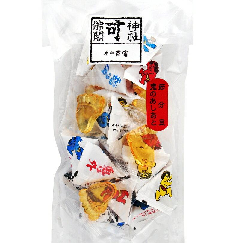 北海道産新大豆「鶴娘」を使い、手間暇おしまず4日間かけて作りました。 節分豆入 三角袋・鬼のあしあと