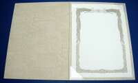 【A5用紙表紙】2枚収納用クリーム証書ファイル・賞状ホルダー
