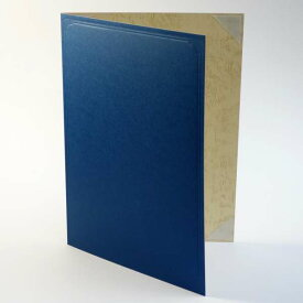 紙表紙 1枚収納用 青色 証書ファイル 賞状ホルダー 賞状ファイル A4用 or B5用 ※サイズをご選択下さい ケース フォルダー バインダー 賞状入れ 資格証 資格証明書 免許証