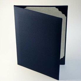 【紺布表紙】2枚収納用 パット有 証書ファイル 証書ホルダー 賞状ファイル A4用orB5用※サイズをご選択下さい【ケース フォルダー バインダー 賞状入れ】