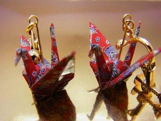 ◆Earrings of the folded paper crane