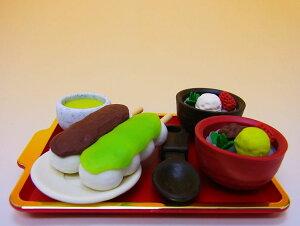 【日本のおみやげ】◆おもしろ消しゴム【あんみつ屋さん】ブリスターパックプラスチック製トレイ付