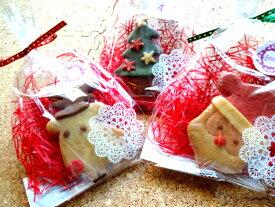 12月は2倍ポイント!16枚以上のご購入で送料無料!!クリスマスクッキー単品焼き菓子 クッキー クリスマスプレゼント 贈り物 プチギフト クリスマス 2019 サンタ トナカイ ブーツ かわいい