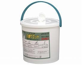 ●代引き不可 送料無料 ライフプラス ぬれタオル介護ウェット バケツタイプ本体(300枚入)×4個