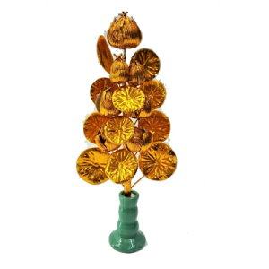 ●送料無料 ミニ盆花金蓮 花瓶付き [ 408152 ] 95046