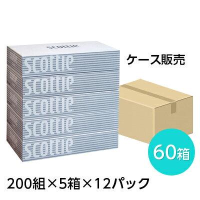 【SB】【期間限定 大特価】 スコッティ ティッシュペーパー 200組 5箱×12パック ティッシュ ケース まとめ買い 00115