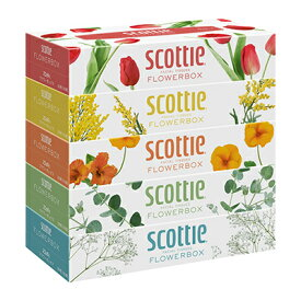 送料無料 スコッティ ティッシュペーパー フラワーボックス 160組 5箱×12パック まとめ買い 00158