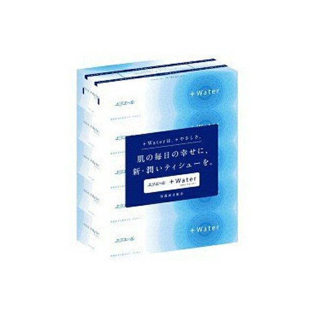 ☆送料無料 エリエールプラスウォーター ティッシュペーパー 180組5箱×10パック まとめ買い 00157