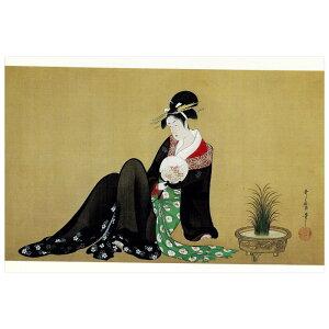 【DM便可】 絵はがき〈納涼美人図〉 喜多川歌麿筆 C-36
