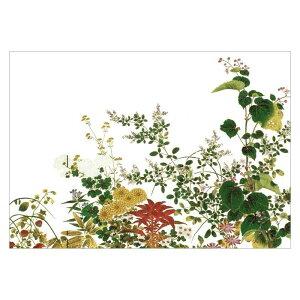 【DM便可】 絵はがき〈四季草花図屏風(部分)〉大岡春卜筆 NK-032