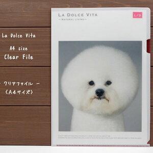 癒されるわんこの写真デザインクリアファイルLa Dolce Vita・クリアファイルA4サイズビションフリーゼ