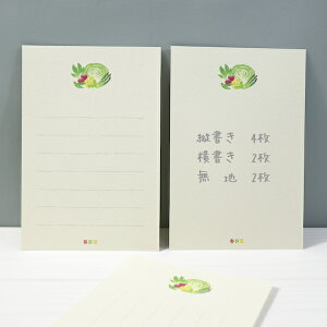 古川紙工美濃和紙を使った和み文具ほんの数行で心の距離が縮まる♪そえぶみはがき箋春限定柄春野菜