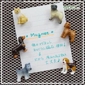 MIDORI【ミドリ】デザインフィル協力な磁石が付いたかわいい立体ミニマグネット犬