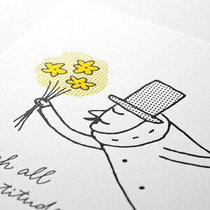 MIDORI【ミドリ】オジサン 25周年記念限定アイテム活版印刷のA4サイズ・ポスターメインアート柄30%OFFアウトレット