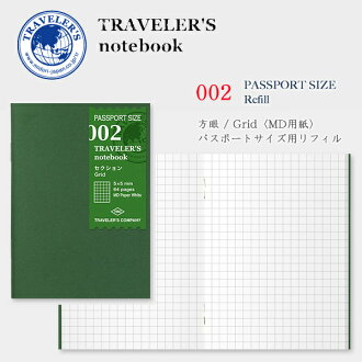 MIDORI TRAVELER'S notebook passport size refill section (squared) MD papers