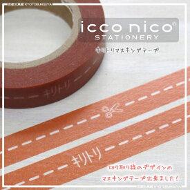 よく目にする切り取り線icconico【イッコニコ】・キリトリマスキングテープカボチャ