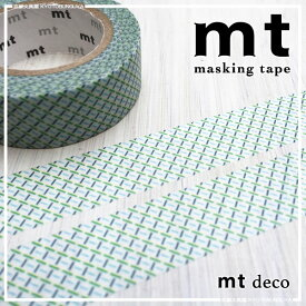 カモ井加工紙〈mt deco〉masking tape マスキングテープ破線・グリーン