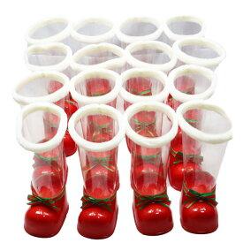 クリアブーツ 大(29cm)【16個セット】【クリスマスブーツ】筒が透明のクリスマスブーツ※容器のみの販売です。