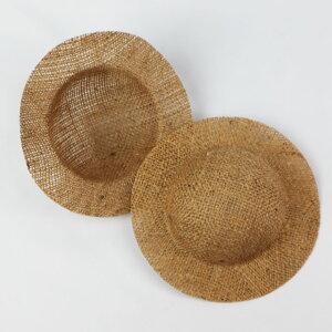 ドールハット チャームドール 外径約15cm、内径約10cm【1個】麻帽子