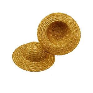 ドールハット【麦わら帽子】 チャームドール 外径約20.5cm、内径約10cm【1個】わら帽子