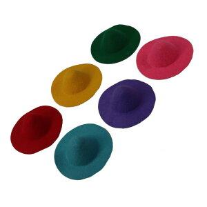 【フェルト帽子】ドールハット チャームドール 外径約7.7cm、内径約4cm【1個】人形アクセサリー 帽子